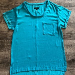 Rag and Bone blue silky pocket tee